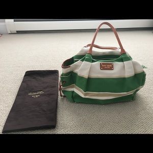 "Kate Spade canvas ""Stevie"" diaper bag"